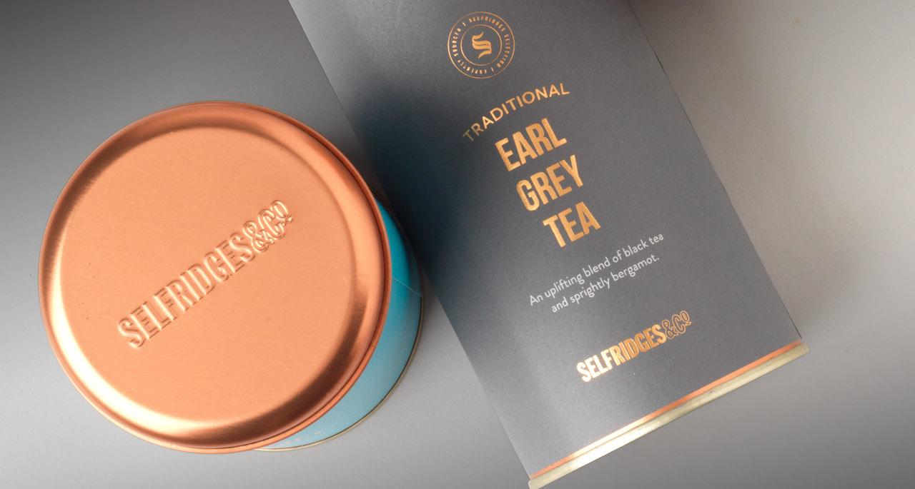 Packaging Innovations - Selfridges tea tins